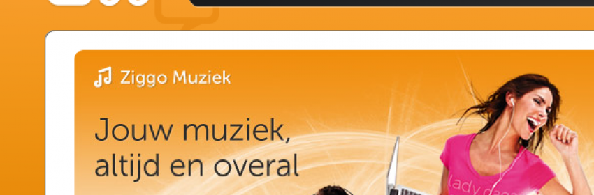 Muziekdienst Ziggo - internet vergelijken